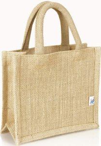 Extra kleine Präsenttasche aus Jute als Werbeartikel