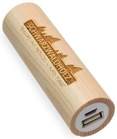 Powerbank Q-Pack Timber Kiefer als Werbeartikel