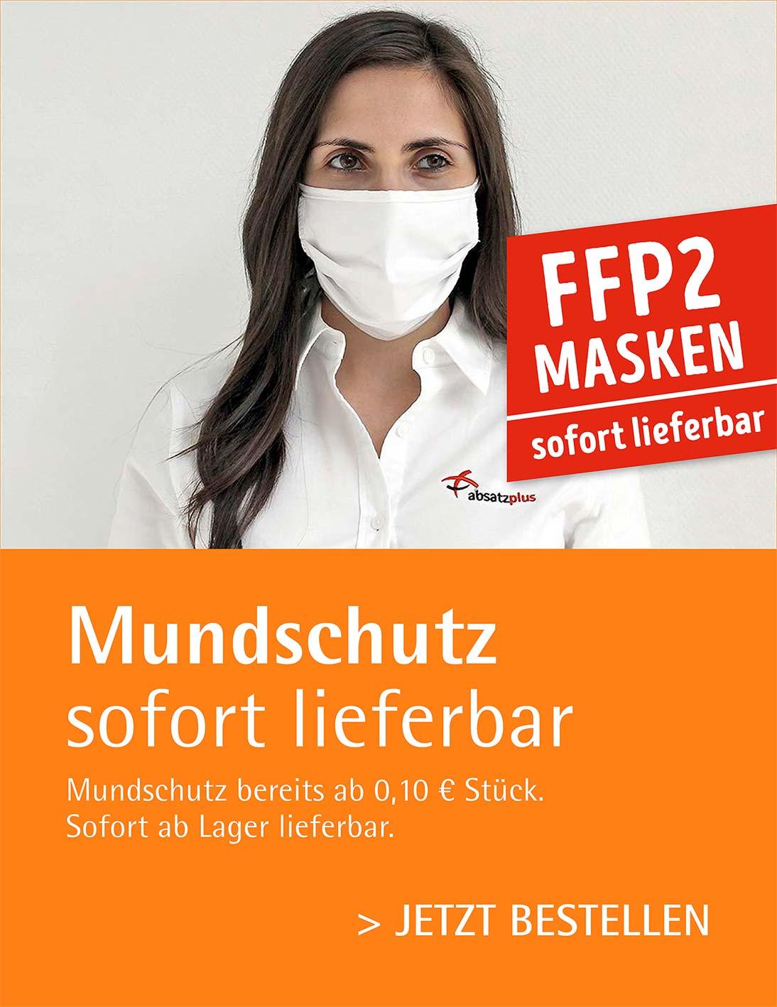 Mund-Nasen-Schutzmasken - FFP2 Masken sofort lieferbar